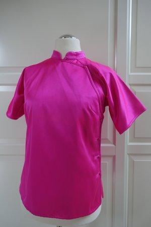 PRADA Top, aus Shantung Seide in Neon-Pink, im chinesischen Stil, Sammlerstück, ital. 44 od. EUR 40