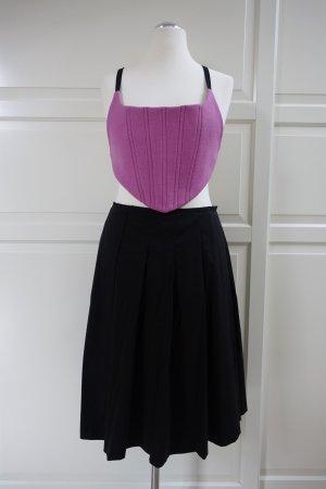 PRADA Top (Sammlerstück aus 1999!) in rosa, und PRADA Faltenrock in schwarz, ital. 46 od. EUR 42