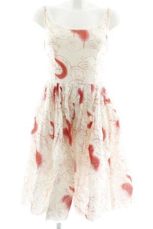 Prada Trägerkleid hellbeige-rot Motivdruck Casual-Look
