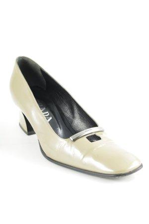 Prada Loafers olijfgroen zakelijke stijl