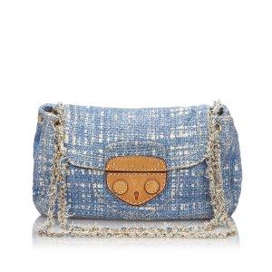 Prada Tweed Chain Shoulder Bag
