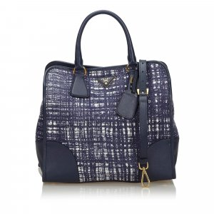 Prada Satchel blue wool