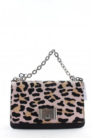 "Prada Bandolera ""Pattina Tessuto Cavalli Crossbody Nero Rose"""
