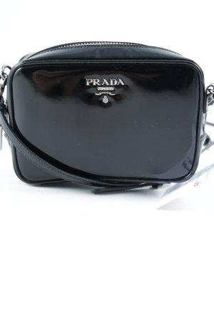 Prada Umhängetasche silberfarben-schwarz Elegant