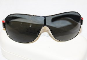 Prada Oval Sunglasses black synthetic material