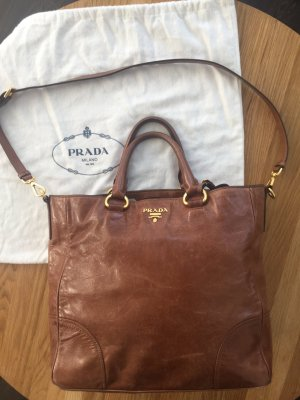 Prada Carry Bag cognac-coloured