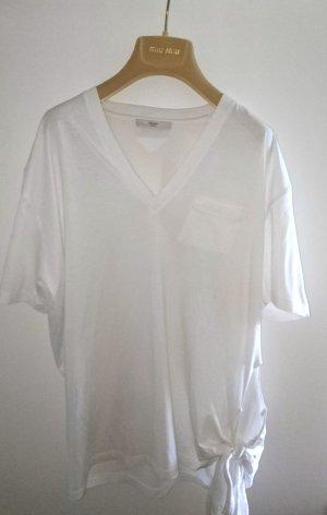 Prada V-Ausschnitt T-Shirt