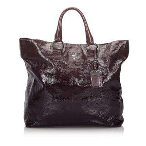 Prada Vernice Tote Bag