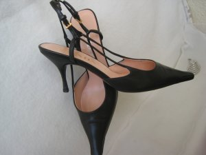 Prada Slingback Pumps black-nude leather