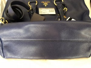 Prada Carry Bag dark blue leather
