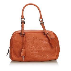 Prada Vitello Daino Leather Bauletto Bag