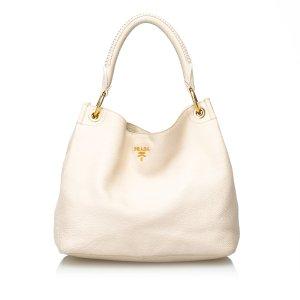 Prada Vitello Daino Leather Hobo Bag