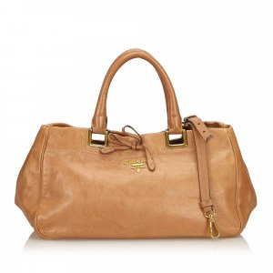 Prada Satchel light brown leather