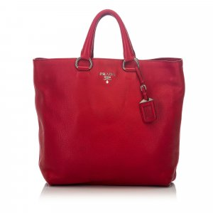 Prada Satchel red leather