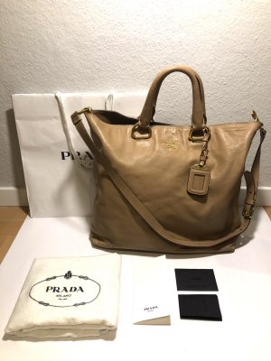 Prada Borsa shopper color cammello Pelle