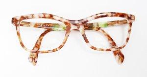 Prada Gafas coñac-blanco acetato