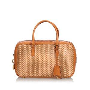Prada Weaved Leather Handbag