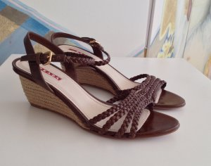 Prada Wedge Sandals multicolored leather