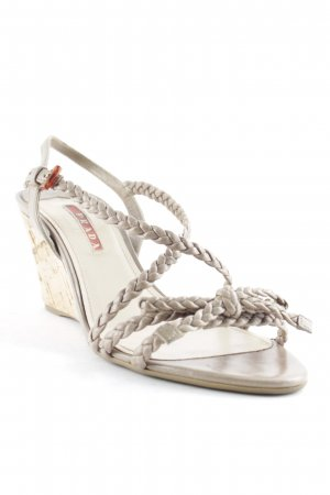 Prada Wedge Sandals grey brown-camel beach look