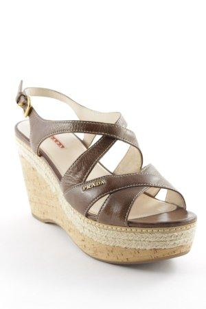 Prada Wedges Sandaletten mehrfarbig Boho-Look