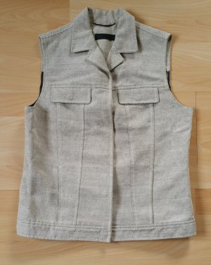 Prada Vest oatmeal-dark brown mixture fibre