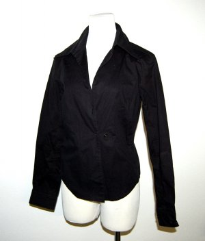 Prada Wickel Bluse in schwarz Gr.M