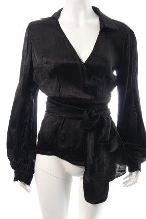 Prada Wickel-Bluse schwarz klassischer Stil