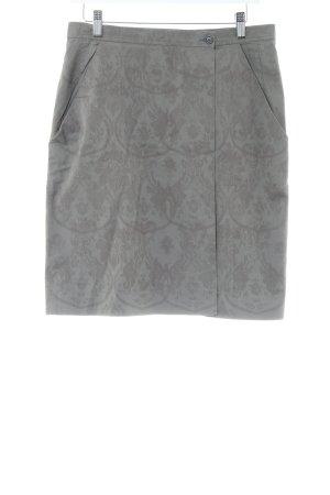 Prada Wickelrock hellgrau abstraktes Muster Casual-Look