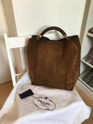 Prada Wildleder Tasche Blogger Hobo Bag Shopper