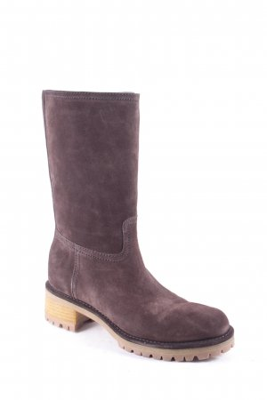 Prada Winter Boots dark brown casual look
