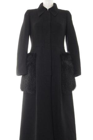 Prada Wollmantel schwarz Elegant