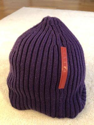 Prada Chapeau en tricot violet foncé