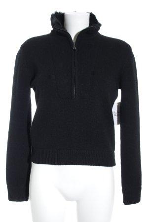 Prada Wollpullover schwarz Kuschel-Optik