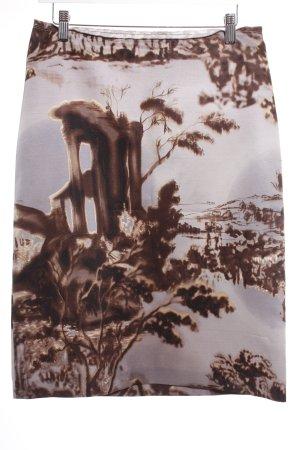 Prada Wollrock Motivdruck Elegant