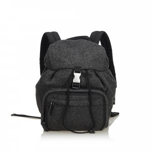 Prada Wool Drawstring Backpack