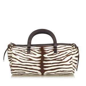 Prada Zebra Print Pony Hair Handbag