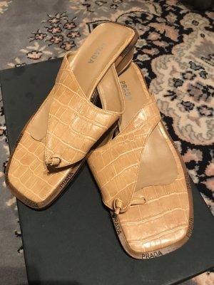 Prada Mules nude leather