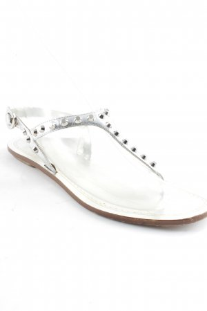 Prada Sandalias con talón descubierto color plata Apariencia metálica