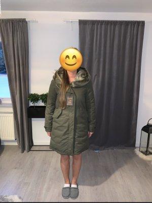 Woolrich Parka vert foncé-kaki