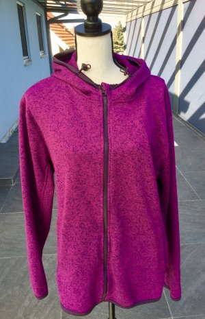 100% Fashion Chaqueta de forro polar negro-violeta