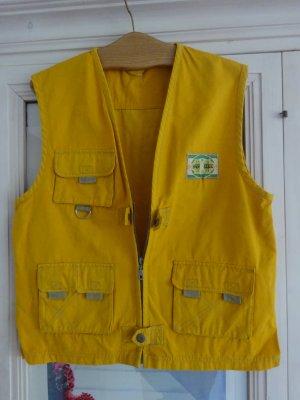 Gilet de sport jaune coton