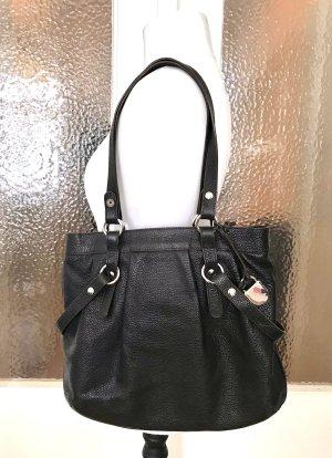 Praktische geräumige dunkelbraune Tasche