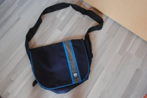 Laptop bag dark blue-cornflower blue