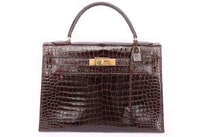 Pre-Owned Vintage Hermes Crocodile 28 Kelly Bag
