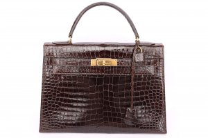 Pre-Owned Vintage Hermes Crocodile 32 Kelly Bag