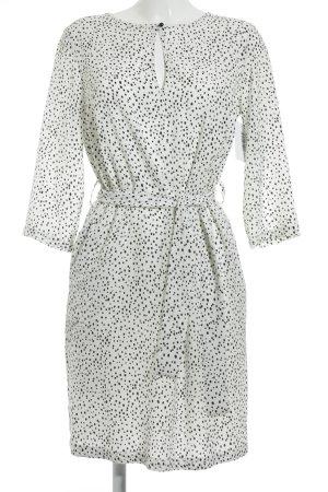 Prego Hemdblusenkleid schwarz-weiß Punktemuster Business-Look