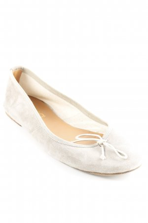 Prego Ballerinas mit Spitze graugrün Casual-Look