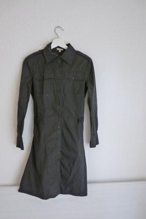 Prego Blusenkleid Damenmode Hemd M 40 braun grau Fashion Blogger