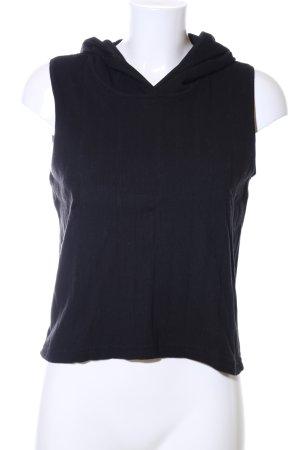 Prego Kapuzenshirt schwarz Streifenmuster Casual-Look