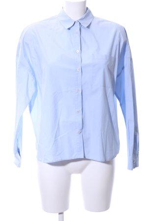 Prego Langarmhemd blau Business-Look